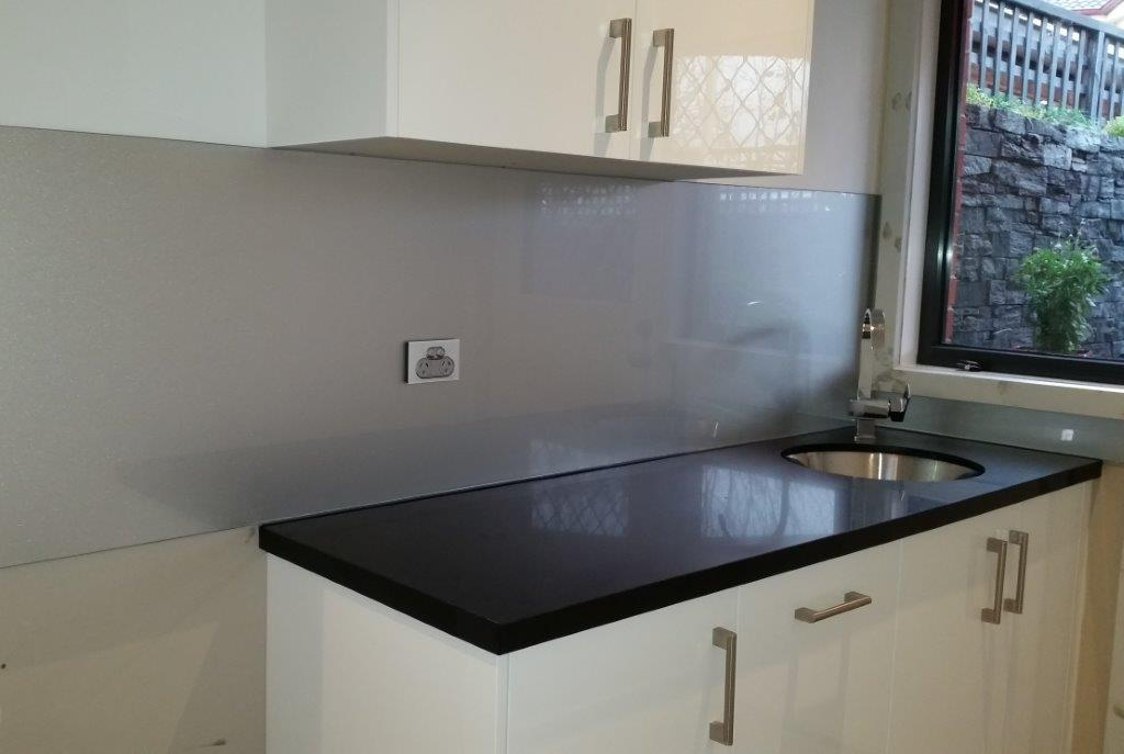 Solid Grey Splashback