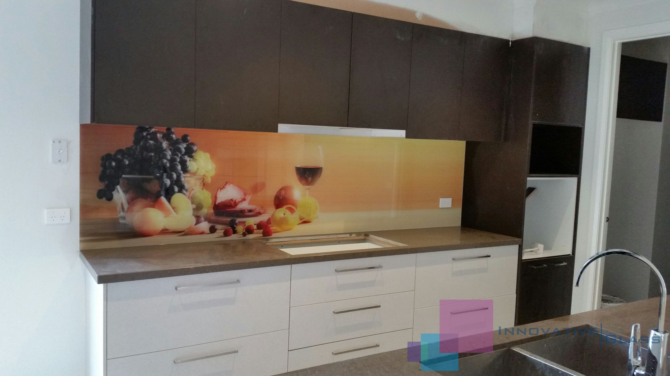 Colourful Photo Printed on Kitchen Splashback