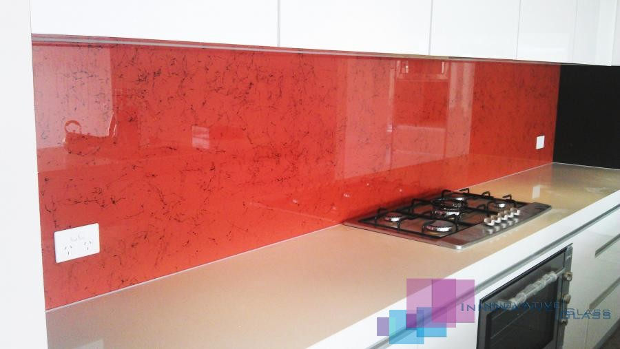 White Kitchen Orange Splashback kitchen glass splashbacks melbourne | innovative glass