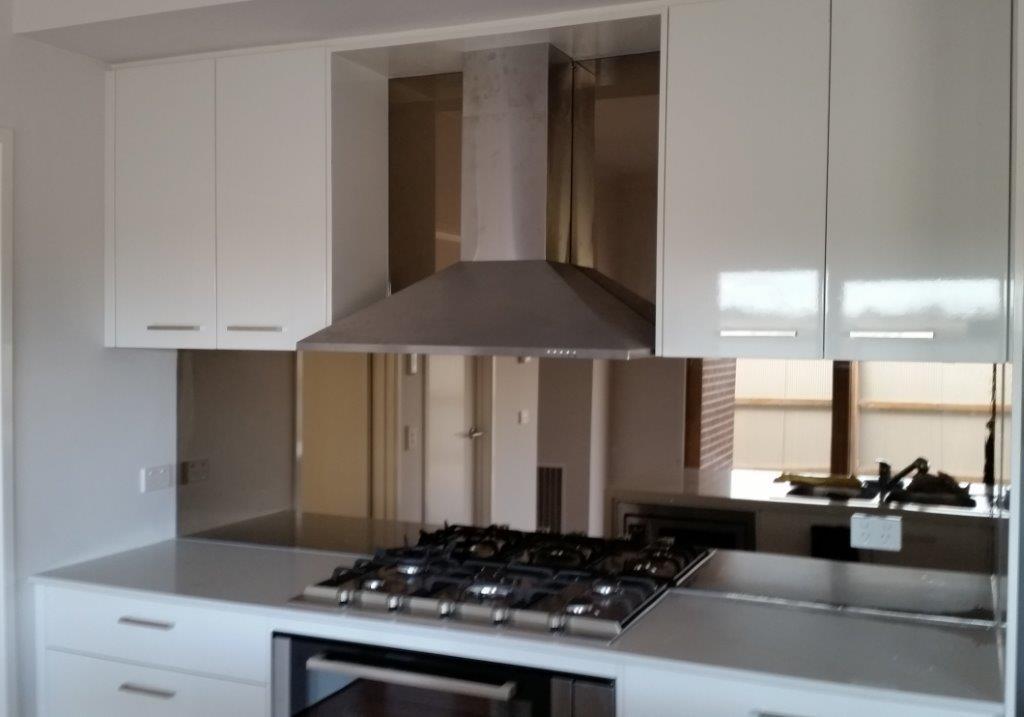 Mirrored Glass Kitchen Splashback